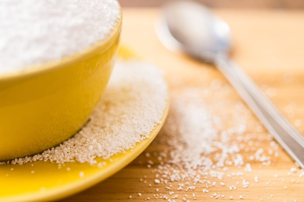 A bowl of artificial sweetener
