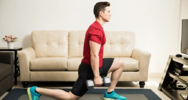 Lunges are a simple exercise you can do at home
